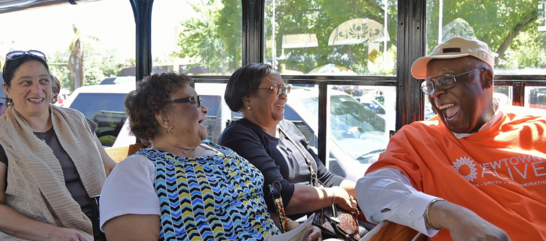 'You know how we do it in Newtown': trolley tours bring community together